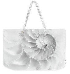 Nautilus Shell In High Key Weekender Tote Bag