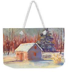 Nauvoo Winter Scene Weekender Tote Bag by Rebecca Matthews