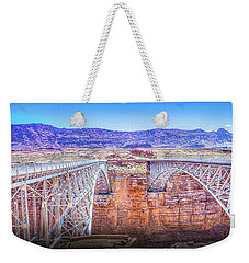 Navajo Bridge Weekender Tote Bag by Mark Dunton