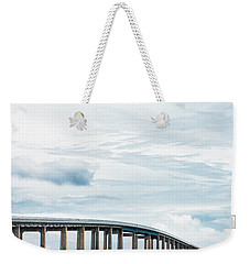 Weekender Tote Bag featuring the photograph Navarre Bridge In Florida On The Sound Side by Shelby Young