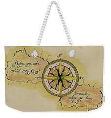 Navigate Home Weekender Tote Bag