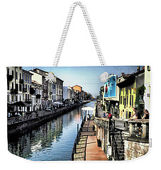 Weekender Tote Bag featuring the photograph Naviglio Grande Canal by Jim Hill