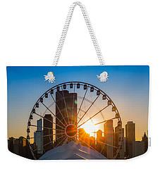 Navy Pier Sundown Chicago Weekender Tote Bag by Steve Gadomski