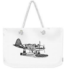 Navy Scout Observation Plane Pen And Ink No  Pi201 Weekender Tote Bag by Kip DeVore