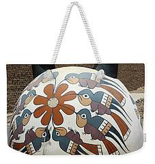 Weekender Tote Bag featuring the photograph Nazca Ceramics Peru by Aidan Moran