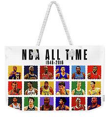 Nba All Times Weekender Tote Bag by Semih Yurdabak