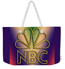 Weekender Tote Bag featuring the digital art N B C Logo - Chuck Staley by Chuck Staley