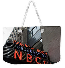 Nbc Studio Rainbow Room Sign Weekender Tote Bag