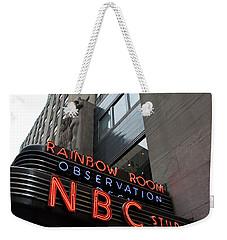 Nbc Studio Rainbow Room Sign Weekender Tote Bag