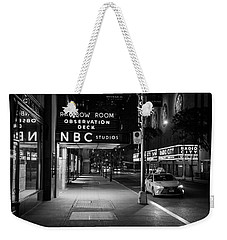 Nbc Studios Rockefeller Center Black And White  Weekender Tote Bag