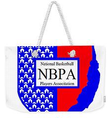 Weekender Tote Bag featuring the digital art Nbpa Logo Redesign Sample by Tamir Barkan