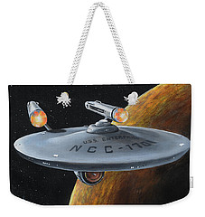 Weekender Tote Bag featuring the painting Ncc-1701 by Kim Lockman
