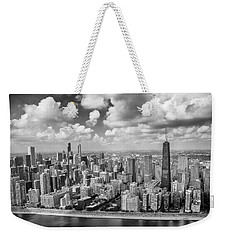 Near North Side And Gold Coast Black And White Weekender Tote Bag