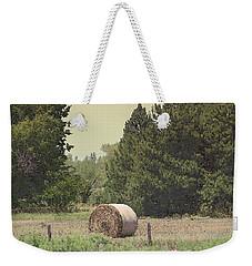 Nebraska Farm Life - Hay Bail Weekender Tote Bag