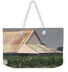 Nebraska Farm Life - The Tin Roof Weekender Tote Bag