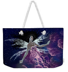 Weekender Tote Bag featuring the painting Nebula by Amyla Silverflame