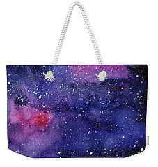 Nebula Watercolor Galaxy Weekender Tote Bag