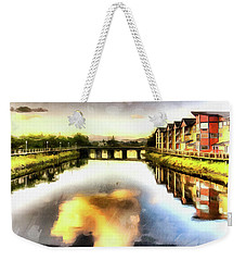 Weekender Tote Bag featuring the photograph Necanium River Seaside by Thom Zehrfeld