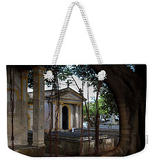 Weekender Tote Bag featuring the photograph Necropolis Cristobal Colon Havana Cuba Cemetery by Charles Harden