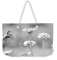 Nectar Black And White Weekender Tote Bag