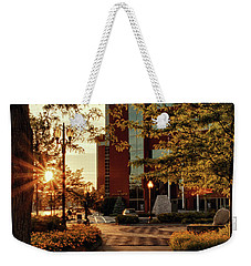 Weekender Tote Bag featuring the photograph Neenah Center Sunset by Joel Witmeyer