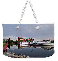 Weekender Tote Bag featuring the photograph Neenah Harbor by Joel Witmeyer