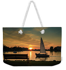 Weekender Tote Bag featuring the photograph Neenah Harbor Sunset by Joel Witmeyer