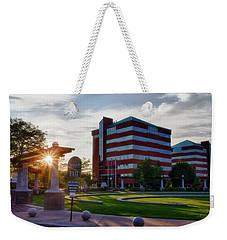 Weekender Tote Bag featuring the photograph Neenah Riverwalk by Joel Witmeyer