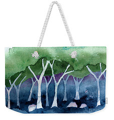 Negative Thinking Makes A Woodland Scene Weekender Tote Bag