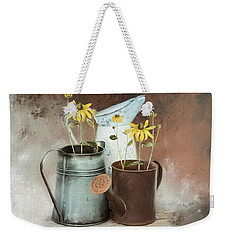 Weekender Tote Bag featuring the mixed media Neighbors by Robin-Lee Vieira