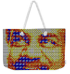Weekender Tote Bag featuring the digital art Neil Degrasse Tyson Art Mosaic by Shawn Dall
