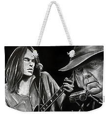 Neil Young And Neil Old Weekender Tote Bag