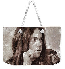 Neil Young By Mary Bassett Weekender Tote Bag