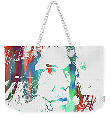 Neil Young Paint Splatter Weekender Tote Bag