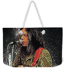 Neil Young Weekender Tote Bag by Taylan Apukovska