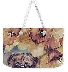 Weekender Tote Bag featuring the painting Nellie Mae by Mindy Newman