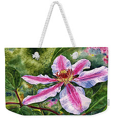 Nelly Moser Clematis Weekender Tote Bag