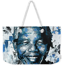 Weekender Tote Bag featuring the painting Nelson Mandela II by Richard Day