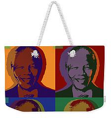 Nelson Mandela Pop Art Weekender Tote Bag