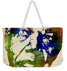 Nelson Mandela Watercolor Weekender Tote Bag