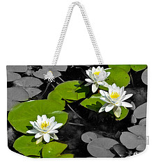 Weekender Tote Bag featuring the photograph Nenuphar by Gina Dsgn