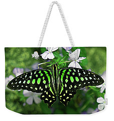 Neon --- Tailed Jay Butterfly Weekender Tote Bag