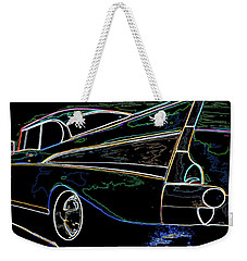 Neon 57 Chevy Bel Air Weekender Tote Bag