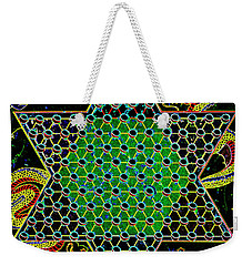 Neon Chinese Checkers Weekender Tote Bag by Paul W Faust - Impressions of Light