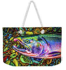 Neon Coho  Weekender Tote Bag