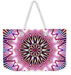 Weekender Tote Bag featuring the digital art Neon Explosion by Shawna Rowe