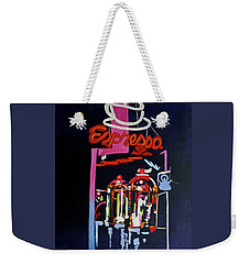 Neon Glow,brass N Copper Expresso Bar Weekender Tote Bag