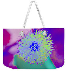 Neon Green Puff Explosion Weekender Tote Bag by Samantha Thome