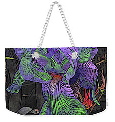 Neon Iris Dark Background Weekender Tote Bag