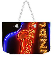 Neon Jazz Weekender Tote Bag